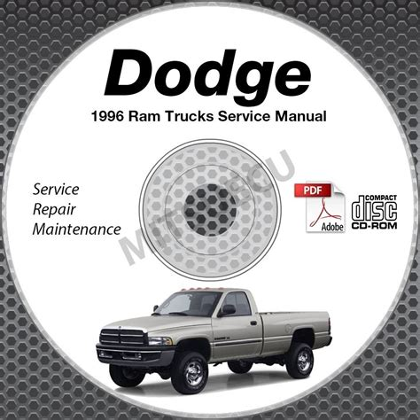 service manual dodge ram 1500 2500 3500 repair manual download dodge ram 2007 2008 dodge ram 1996 dodge ram 1500 2500 3500 truck gas diesel service manual cd shop repair
