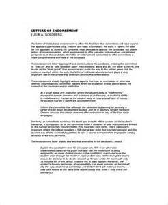 Endorsement Letter For On The Sle Endorsement Letter 9 Documents In Pdf
