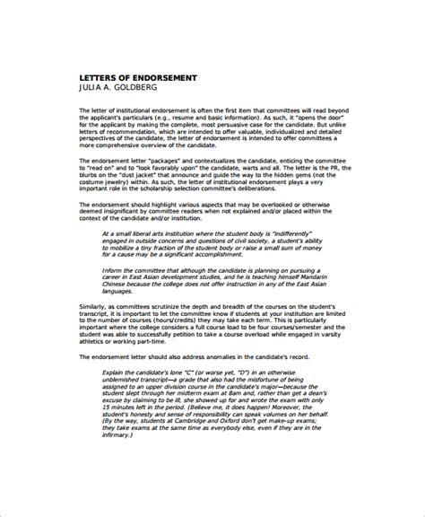 Endorsement Letter Sle Linkedin business letter endorsement sle 28 images sle letter