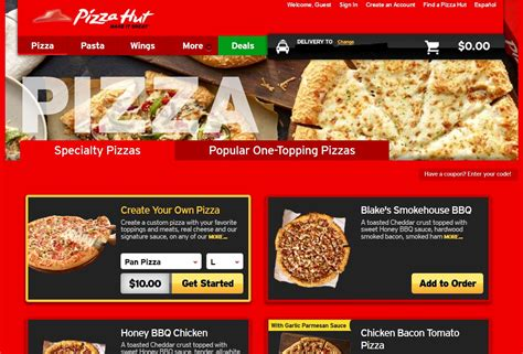Pizza Hut Delivery Gift Card - how to order pizza hut pizza with paypal
