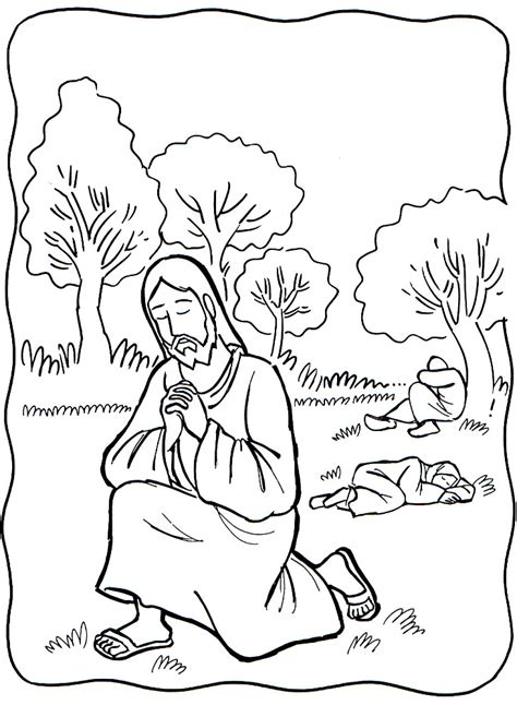 coloring pictures of jesus praying garden of gethsemane coloring page 2017 discipleland
