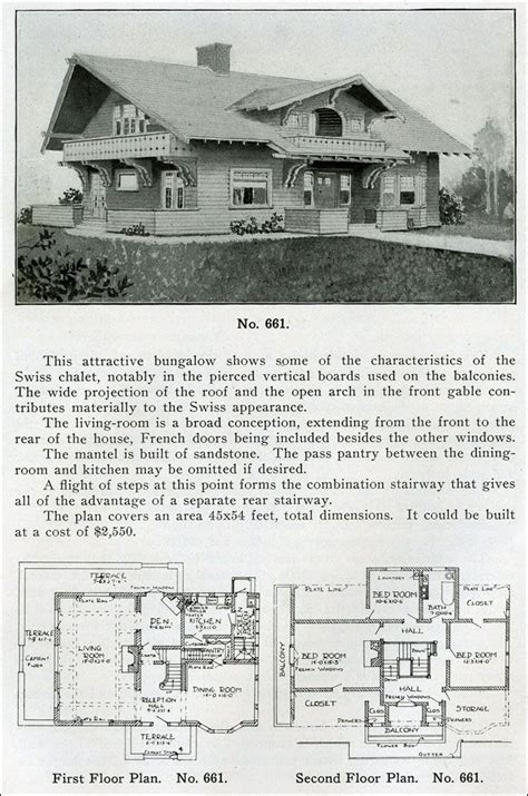 bungalow pattern books design no 661 from quot the bungalow book quot by henry wilson