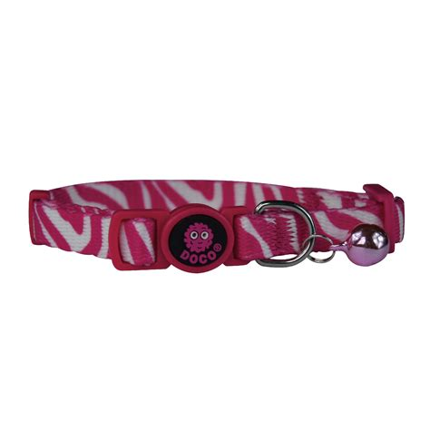 Doco Cat Collar Kalung Kucing doco 174 loco cat collar pink zebra www docopet