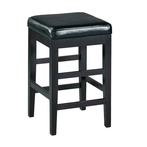 black counter chairs home decorators collection 24 in black cushioned counter