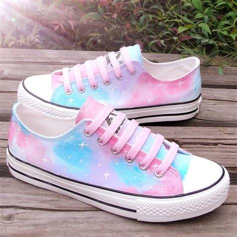 japanese harajuku galaxy painted canvas shoes 183 asian