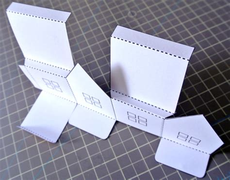 Paper Folding House Template - paper house luminaries and mobile just something i made