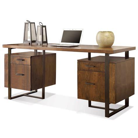 Riverside Desks by Riverside Furniture Terra Vista Pedestal Desk With File Drawers Dunk Bright Furniture