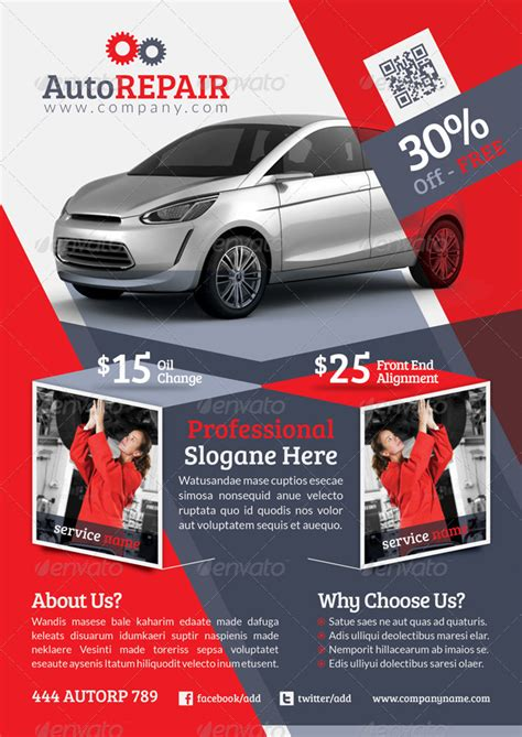 automobile repair flyer template by grafilker graphicriver