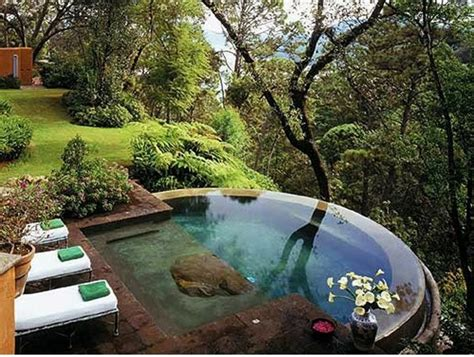 Sloping Backyard Landscaping Ideas Swimming Pool In The Garden Landscape Ideas For Swimming Pools Interior Design Ideas Avso Org