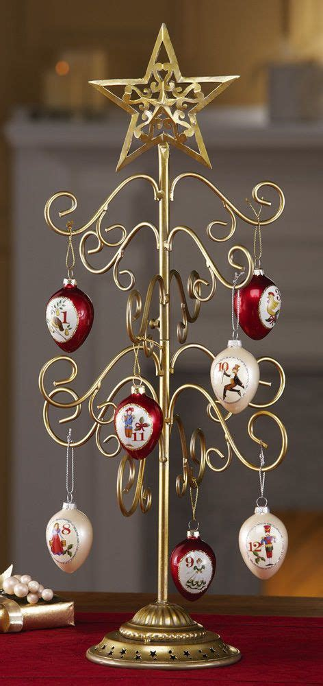 metal christmas tree ornament holders decoration gold metal tabletop tree ornament holder display 20 quot h