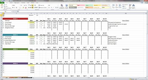 weightlifting cards template niel k patel log spreadsheet