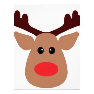 rudolph reindeer face template merry christmas happy