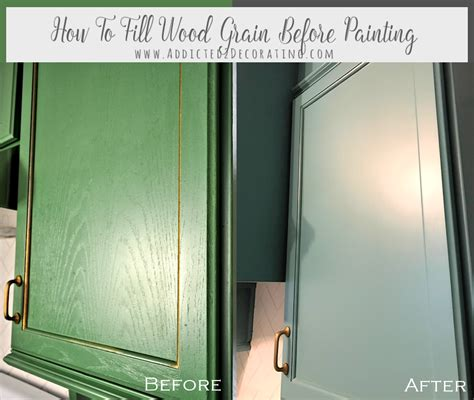how to paint oak cabinets white without grain showing how to fill wood grain on oak cabinets before painting