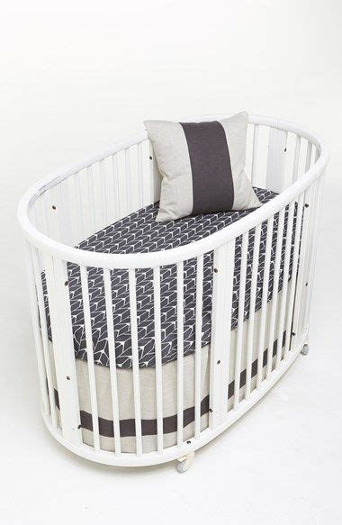Oval Cribs For Babies by Oval Crib With Grey Sheets Http Rstyle Me N