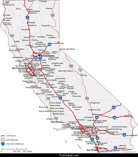 highway map of california california usa road highway maps city town autos post