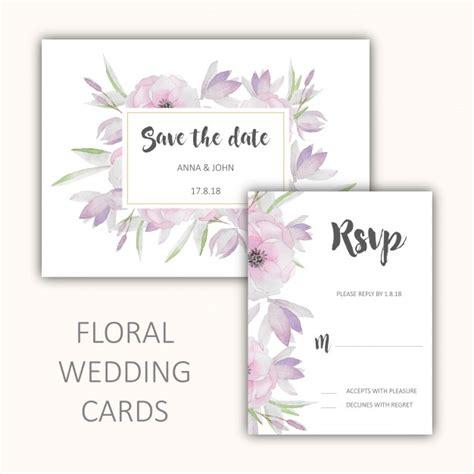 Wedding Card Freepik by Floral Wedding Cards Set Vector Free