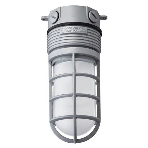Lithonia Outdoor Lighting Lithonia Lighting Gray Outdoor Integrated Led Vapor Tight Flush Mount Olvtcm M6 The Home Depot