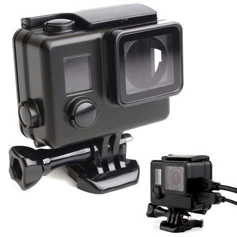 Usb Cover Tutup Gopro Go Pro 3 3 4 black protective housing cover usb port side
