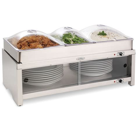 The Caterer S Buffet Server And Plate Warmer Hammacher Buffet Server And Warmer