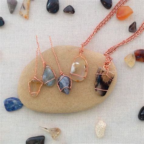how to make rock jewelry with wire creative ways to put your rock collection to use