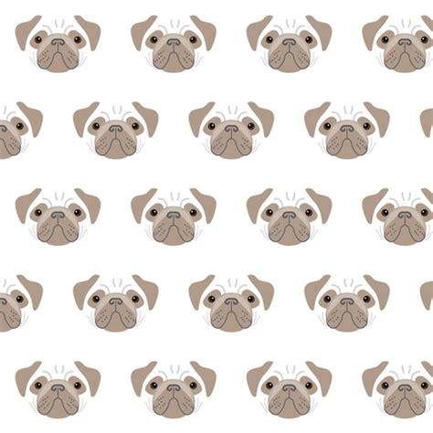 brown and white pug pugs brown and white fabric lilcubby spoonflower