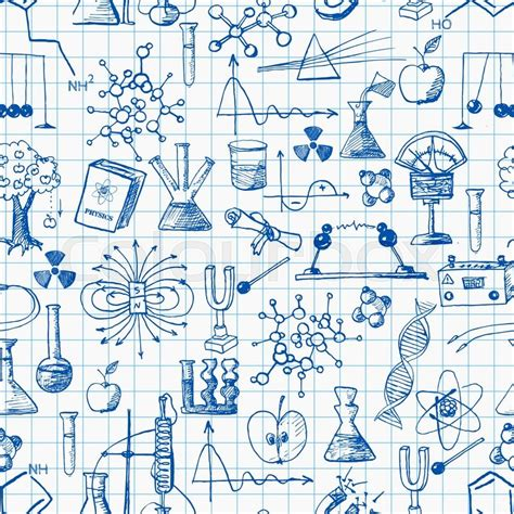 net pattern for physics back to school seamless background physics and chemistry