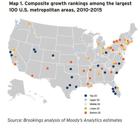 map of us cities 100 000 three maps that show how us metro economies are doing
