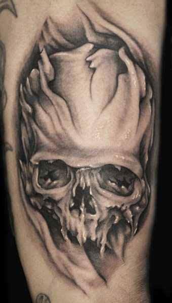 carpenter tattoos monochrome skull by joe carpenter design of