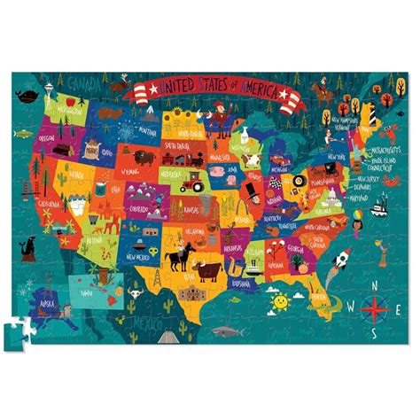 usa map crossword puzzle usa map 200 pc jigsaw puzzle and poster set educational