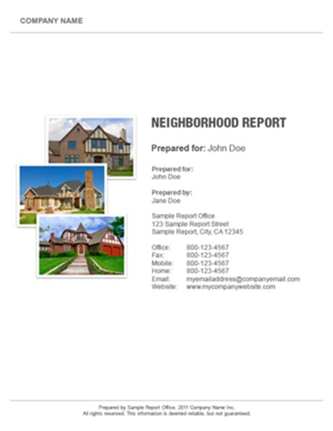 Abr Report Template Search Neighborhoodreport Aspx