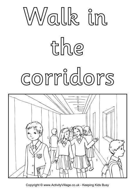 coloring pages school rules school rules coloring pages