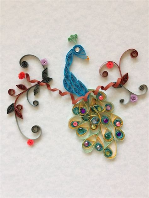 How To Make Paper Quilling Peacock - quilled peacock by jgacreations on etsy 25 00 my