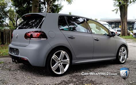 Autofolie Grau Metallic by Vw Golf Folie Grau Matt Combat Grey Car Wrapping 21