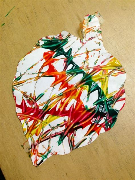 preschool painting with leaves leaf marble painting in preschool 2 arts crafts