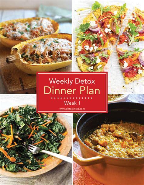 Easy Detox Dinner by Weekly Detox Dinner Plan Week 1 Detoxinista