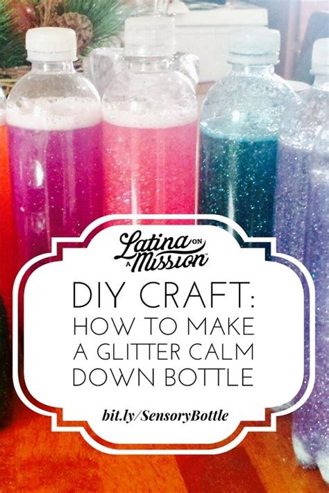 diy craft down diy craft how to make a glitter calm bottle on a mission