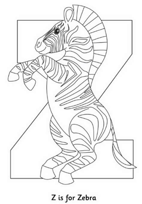 Z Zebra Coloring Page by Muck Monsters August 2014