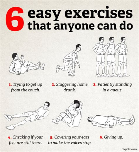 6 easy exercises that anyone can do the poke