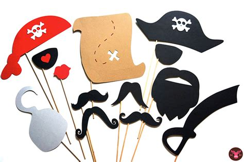 printable pirate photo booth props awesome etsy find photo booth props by the manic moose