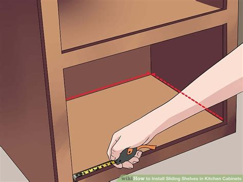 how to install sliding drawers in kitchen cabinets how to install sliding shelves in kitchen cabinets with