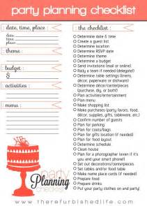 Planning checklist on pinterest party checklist party planners and
