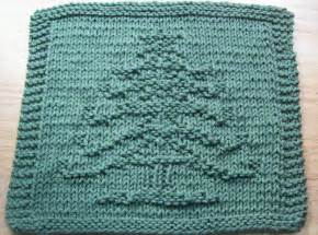 digknitty designs another christmas tree knit dishcloth