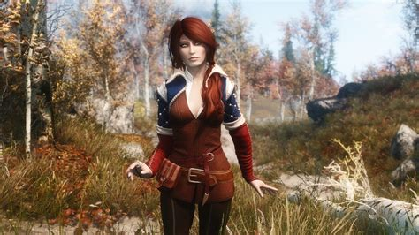 witcher 3 yennefer and triss armors at skyrim nexus mods witcher 3 female armor retextures at skyrim nexus mods