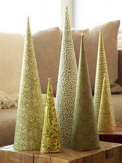 newspaper cone christmas trees beautiful tabletop trees decorating ideas designs family net guide to