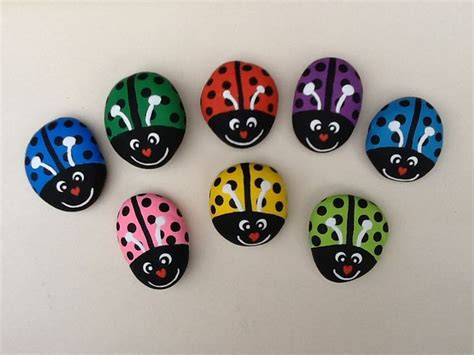 Ladybug Garden Decoration Juego by 284 Best Images About Painted Rocks Bugs Frogs Lizards