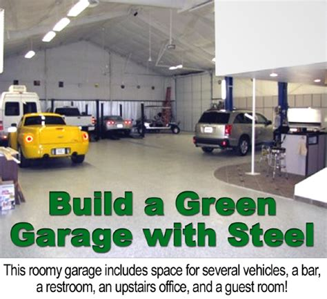 The Green Garage by Building A Green Garage With A Metal Building Rhino