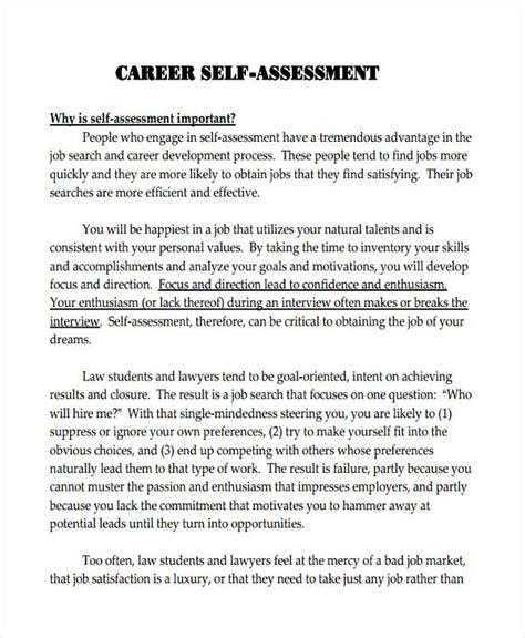 Self Evaluation Cover Letter employee self assessment sles employee self assessment exles employee self assessment