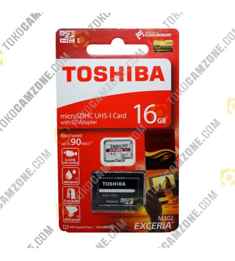 toshiba exceria micro sdhc uhs i 90mb s 16gb class 10 with