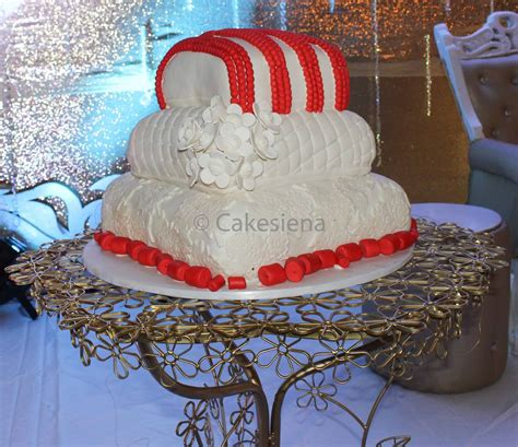 wedding tradisional cake factory corals and pillows traditional wedding cake