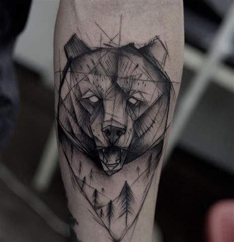 grizzly tattoo 32 geometric designs amazing ideas